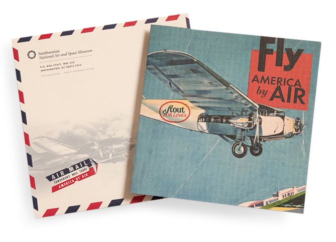Smithsonian Air and Space museum invitation, America By Air