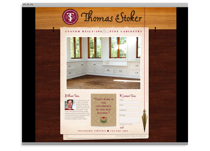Tom Stoker Professional Carpentry web site