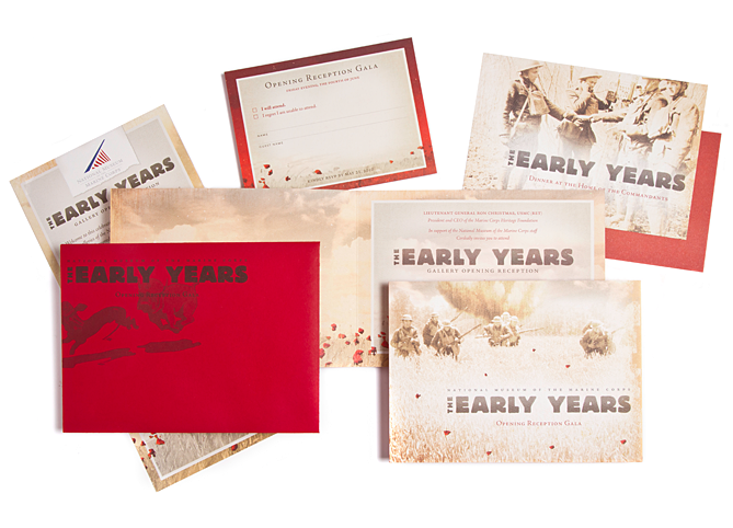 The National Museum of the Marine Corps Early Years Gallery Opening Invite, Program