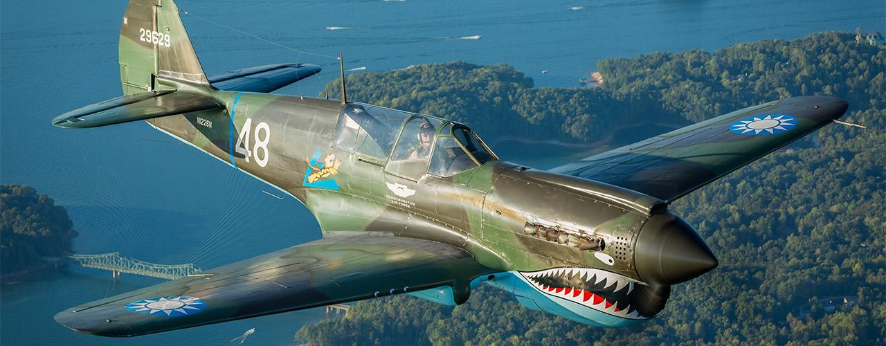 P-40 in flight, Lake Lanier, Atlanta GA