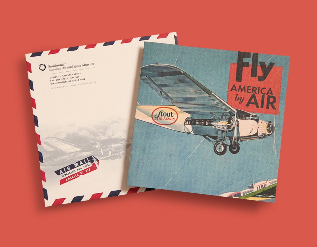 """Smithsonian Air and Space Museum """"America by Air"""" invitation"""